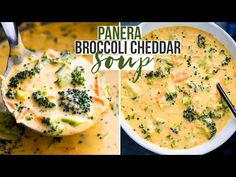 Healthy broccoli cheddar soup packed with carrots, broccoli, garlic, and cheese. This creamy velvety soup is much better than Panera's broccoli cheddar soup . Broccoli Soup Recipes, Easy Soup Recipes, Vegetarian Recipes, Dinner Recipes, Cooking Recipes, Healthy Recipes, Broccoli Casserole, Cooking Time, Broccoli Cheddar