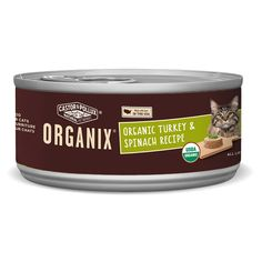 Organix Organic Turkey and Spinach Recipe Cat Food, Case of 24, 5.5 oz. Cans *** You can get more details by clicking on the image. (This is an affiliate link and I receive a commission for the sales)