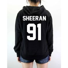 Ed Sheeran Hoodie Sweatshirt Sweater Shirt Unisex - Size S M L XL (82 LTL) found on Polyvore featuring tops, hoodies, shirts, bands, long sleeve sweatshirt, pullover hooded sweatshirt, long sleeve shirts, black collared shirt and hooded sweat shirt