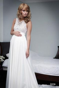 Pregnant wedding gowns 2015 iona (1)