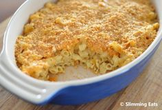 Quick Macaroni and Cheese Bake | Slimming Eats - Slimming World Recipes