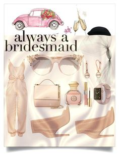 """""""Bridesmaid & jumpsuit"""" by ane-56 ❤ liked on Polyvore featuring Gucci, Jimmy Choo, Givenchy, Tory Burch, Gianvito Rossi and Yves Saint Laurent"""