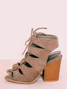 suede sandals wooden block heel