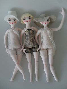 WIP DECO DOLLIES by Art Dolls of Kaerie Faerie, via Flickr