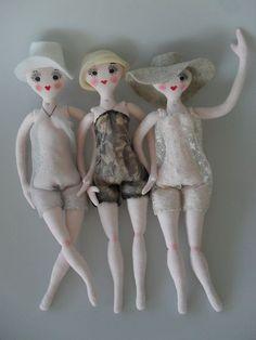 WIP DECO DOLLIES by Art Dolls of Kaerie Faerie, via Flickr