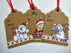 Items similar to Snowman Elf Penguin gift tags, Christmas Die Cut Hang tags, 6 Handmade Holiday Xmas tags for presents, Animal Winter tags, Candy Canes on Etsy Homemade Gift Tags, Homemade Christmas Cards, Christmas Gift Tags, Xmas Cards, Handmade Christmas, Christmas Crafts, Christmas Planner, Christmas Towels, Handmade Tags