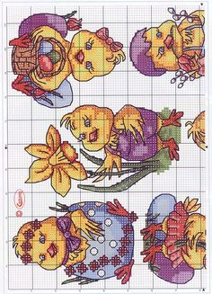 Easter chicks cross stitch 1