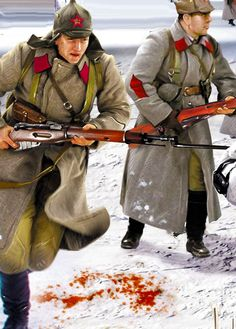 Red Army in battle