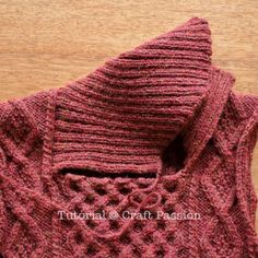 Get free knitting pattern of stylish & luxury Shawl Collar Cable Pullover. Sizes: 48 and 52 inch chest measurements, suit both men & women. Mens Knit Sweater Pattern, Leaf Knitting Pattern, Sweater Knitting Patterns, Knitting Stitches, Knit Patterns, Free Knitting, Cable Knit Sweaters, Winter Sweaters, Collar Pattern