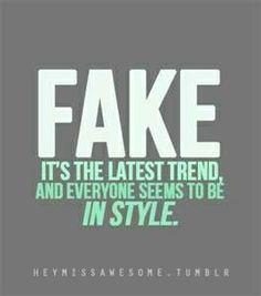 Fake give me Goosebumps! #Yuck
