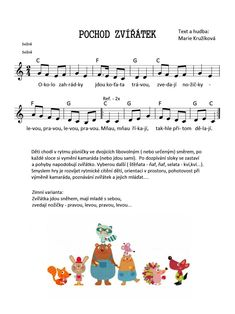 Kids Songs, Education, Words, Sheet Music, Music, Children Songs, Songs For Children, Nursery Songs, Teaching