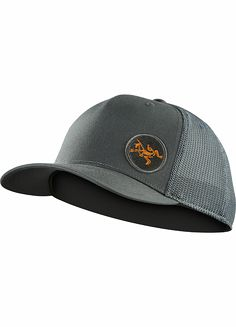 Classic cotton trucker hat with an embroidered Arc'teryx bird logo patch on the front, air permeable mesh on the back and snap back adjustment strap.Accessory Features •Classic trucker hat style•Polyester mesh backing provides ventilation•Snap back adjustment strap•Mesh - 95% polyester, 5% polyurethane elastane•Self - 97% cotton, 3% elastane