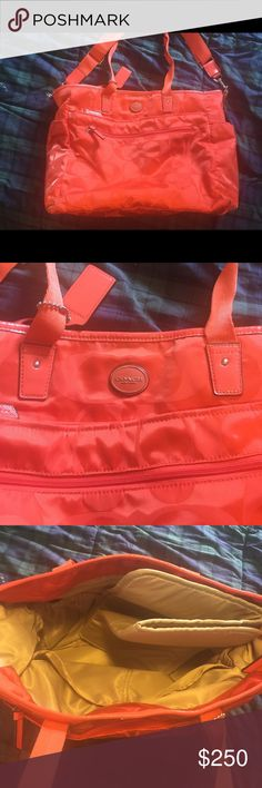Coach Diaper Bag Coach Diaper Bag.  Authentic. EUC.  Only used a few times.  Has a couple of marks from use but they are barely noticeable. Coach Bags Baby Bags