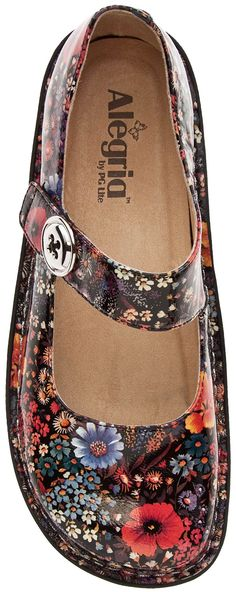 The Paloma Floral shoes are adorable! - Alegria Paloma Midnight Garden from www.planetshoes.com