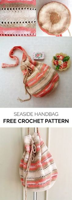 Seaside Handbag Free Crochet Pattern #crochet #crafts #bag #fashion #style #idea #project #handmade #homemade