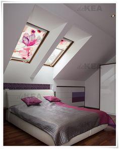 Rolety dachowe deKEA na poddasze do sypialni i salonu. Setki wzorów do wyboru.