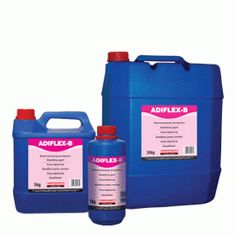 ADIFLEX-B: Polymer dispersion - Elastifying agent for waterproofing slurries (when added to AQUAMAT or cement mortars) or cementitious tile adhesives (when added to Isomat® AK 20, Isomat® AK 10 etc.). Replaces all or part of the mixing water. Necessary for applications on dimensionally unstable substrates, subject to vibration or contraction-expansion.