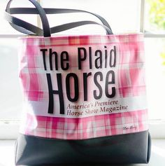 The Pink Deco Pony Plaid Horse Tote! Order yours here: http://www.decopony.com/
