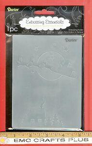 SANTA CHIMNEY Embossing Folder 4.5 x 5.75 Darice