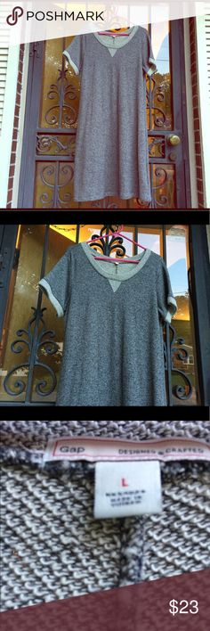 gray GAP dress.. perfect for Fall.❤️❤️ EUC! Grey short sleeve mid length dress. Perfect for warm fall nights. Worn only a few times.. ❤️EUC! GAP Dresses Midi