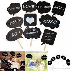 10pcs/set DIY Bubble Speech Chalk Board Wedding Birthday Party Photo Booth Prop Decorations Festival Supplies FPS_004