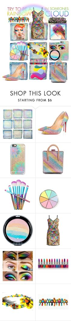 """""""Rock The Rainbow Contest"""" by belladonnasjoy ❤ liked on Polyvore featuring Christian Louboutin, Casetify, Yosemite Home Décor, fashionset, artset and polyvoreeditorial"""