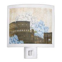 Ancient Rome Blue Hydrangea Night Light