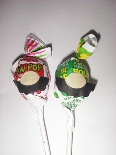 mario & luigi lollipops - party favors! #Mario Party
