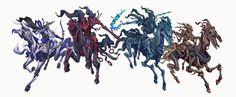 Monster Concept Art, Fantasy Monster, Fantasy Creatures, Sea Creatures, Warframe Characters, Horsemen Of The Apocalypse, Cool Robots, Apocalypse Survival, Zombie Apocalypse
