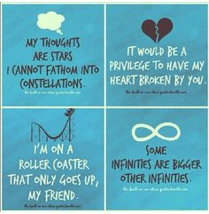 quotes from The Fault in Our Stars  :') I can't contain myself right now