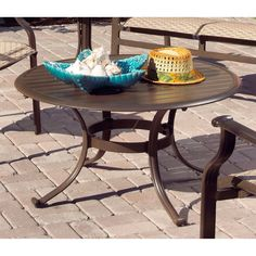 Have to have it. Panama Jack Island Breeze Patio Coffee Table with Slatted Aluminum Top - Espresso Finish - $266 @hayneedle