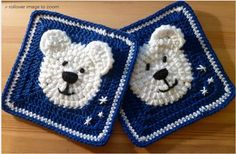 Vanecroche e patch: Square Urso de crochê