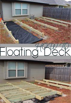 DIY Floating Deck How To for a Backyard Makeover #deckdesigntool