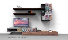 Σύνθεση τοίχου έπιπλο τηλεόρασης MARINE WALL