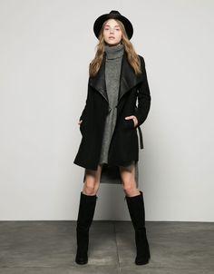 Bershka Serbia - Double-breasted wool coat