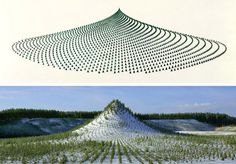A huge manmade mountain measuring 420 meters long, 270 meters wide, 38 meters high and elliptical in shape was planted with eleven thousand ...