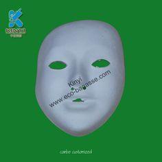 White Masks - Paper Pulp Masks, White Face Masks, White Halloween Masks, White Masquerade Masks