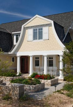 CURB APPEAL – another great example of beautiful design. Shingle Style Home Architecture.
