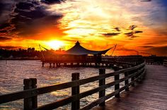 Bandar Djakarta restaurant at the northern shore of Jakarta (Ancol). If you tired with the boisterousness of Jakarta, this place will suit you. They serve one of the best and fresh seafood menus in the city.
