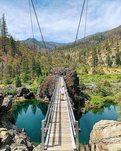 "Travel Oregon on Instagram: ""Afraid of heights? Then maybe skip the Swinging Bridge. 📷: @justgeorgieboy Please note, the Swinging Bridge is currently closed for…"" Oregon Road Trip, Oregon Travel, Washington, Bridge, River, Outdoor, Instagram, Note, Outdoors"