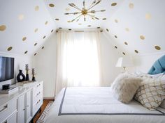 bright white teen bedroom