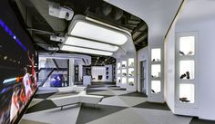 Adidas: Global apparel brand Adidas relocated its Shanghai headquarters in 2013, with PDM International commissioned to design the new workspace. PDM created a creative and inspiring work atmosphere to match the quality of the Adidas brand.