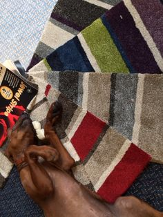 Funky striped carpet, that even the dog loves! Bleach cleanable, heavy domestic, fade resistant