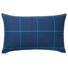 HÄSSLEBRODD cushion features classic checks with a modern color palette and a huggable filling of recycled polyester on the inside – a fresh accent and more comfort using less of nature's resources. Modern Color Palette, Modern Colors, Cat Cushion, Cushion Covers, Glass Cabinet Doors, Glass Door, Cushions On Sofa, Bed Pillows, Home