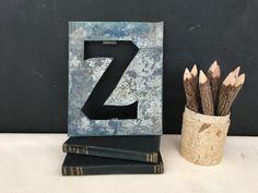 Large Metal Letter Z Large Metal Letter E Vintage Metal Enamel E Sign  Vintage Signs