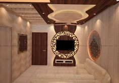 Our design took this into consideration and thought of a separator between living and dining area, we achieved this with a laser designed wood panel that had a flowery design with typical 'Mughalai' touch.