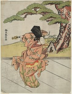 Suzuki Harunobu 鈴木 春信 Japanese, 1725 (?)-1770  Female Sanbaso Dancer, c. 1766/67