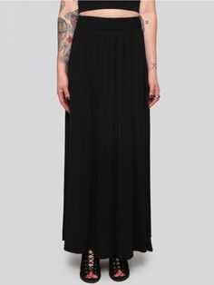 Black Night Maxi Skirt - Gypsy Warrior