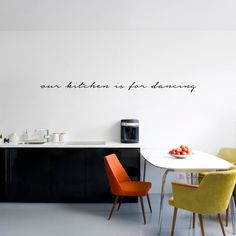 Sweetums Our Kitchen Is For Dancing Wall Decal 60 wide x 5-inch tall