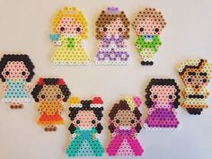 Sofia the First characters perler beads by e_rika753